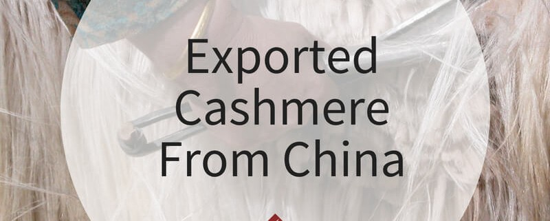 Exported Cashmere From China