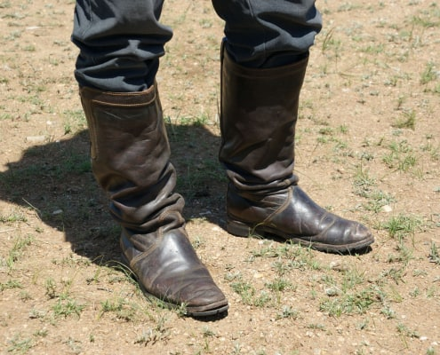 Boots of Mongolian Cashmere Grower