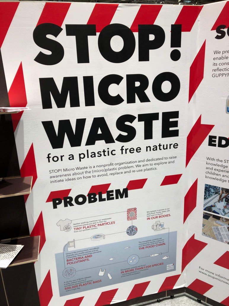 Stop Micro Waste display at ISPO 2019