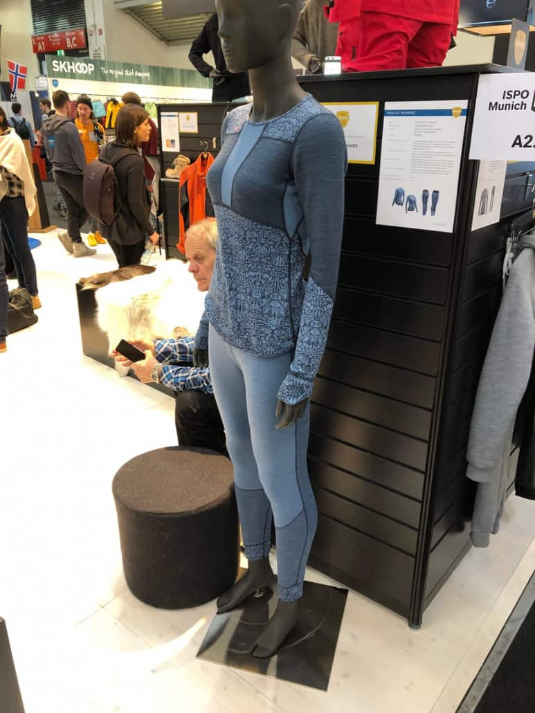 Devold merino wool reversable base layer garments at ISPO 2019